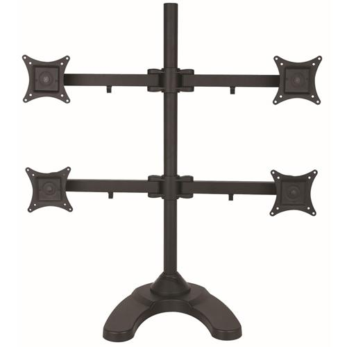 Desk mount with base 4 articulated arms 4 Monitors 10 - 24 in - 04-0168 - Mounts For Less