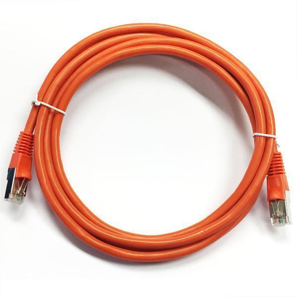 Ethernet cable network Cat6 550MHz RJ-45 shield 100 ft Orange - 89-0281 - Mounts For Less