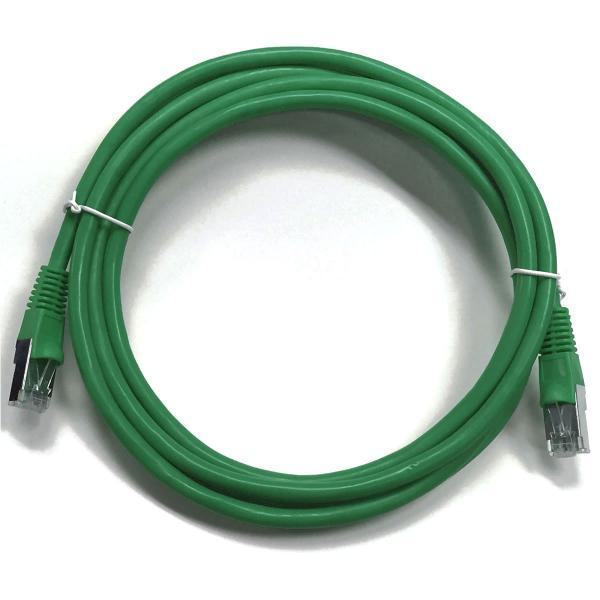 Ethernet cable network Cat6 550MHz RJ-45 shield 25 ft Green - 89-0257 - Mounts For Less