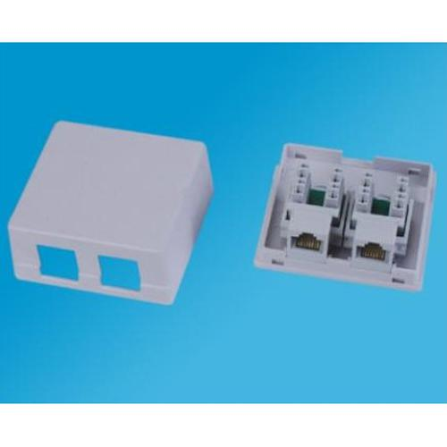 Ethernet RJ45 surface box 2 Ports White - 05-0104 - Mounts For Less