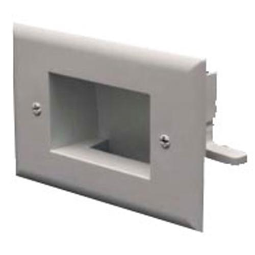 EZ-Mount pass-thru wall plate 1 Gang - White - 05-0094 - Mounts For Less