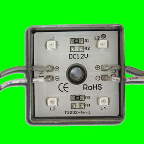 GlobalTone 4 LED lights module IP65 Green 0.12A 1.44W - 75-0039 - Mounts For Less