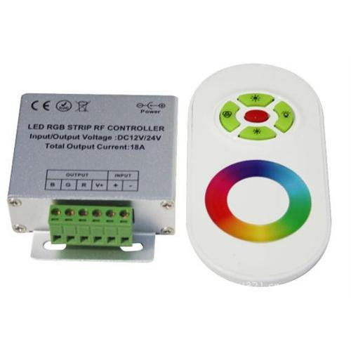 GlobalTone Controler with Touchpad remote for LEd strip RGB 12v 18A - 75-0054 - Mounts For Less