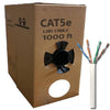 GlobalTone Ethernet cable network Cat5e RJ-45 24AWG 1000ft White CCA - 89-0120 - Mounts For Less