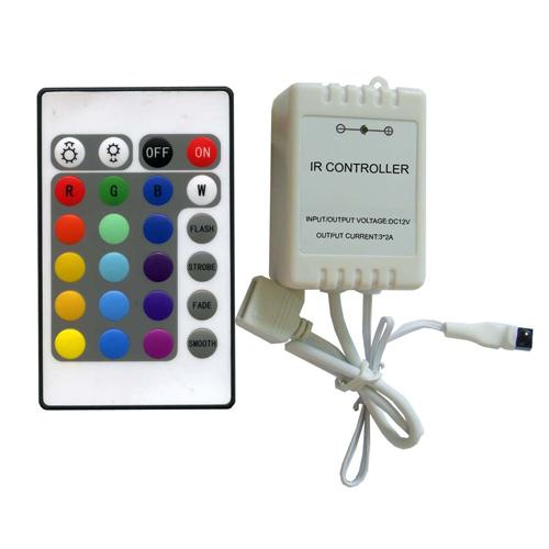 GlobalTone LED Controler with mecanical dimmer +24 buttons IR Remote 12v 6A - 75-0028 - Mounts For Less