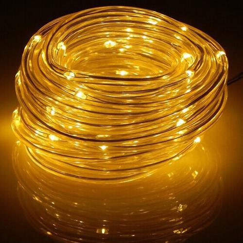 GlobalTone LED Light Cord, 100 LEDS, IP67, 4.8W, Yellow , 12vdc, 2.1mm, 10m - 75-0134 - Mounts For Less