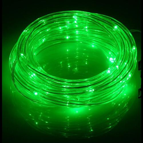 GlobalTone LED Light Cord, 50 LEDS, IP67, 2.4W, Green , 12vdc, 2.1mm, 5m - 75-0139 - Mounts For Less