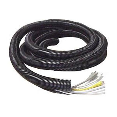 GlobalTone Split loom flexible tube cable organizer 1in 25mm black 25ft - 67-0032 - Mounts For Less