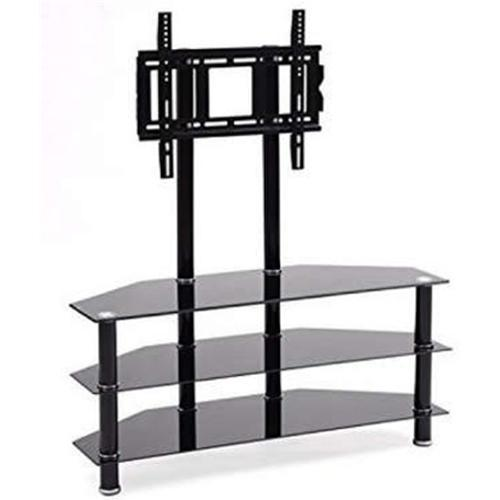 info for 40931 8c2ff Impressions BM-108 TV Stand with 3 Shelves Tempered Glass Black 32