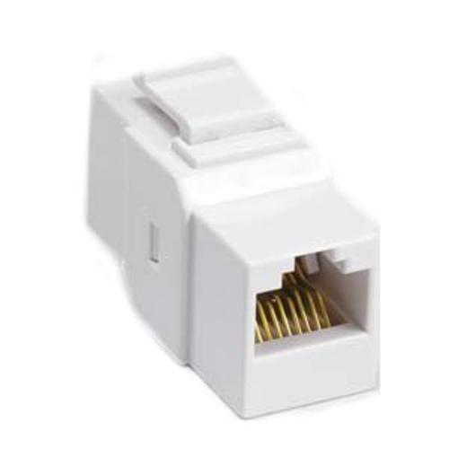 Keystone connector Cat5e/Cat6 Female White - 88-0029 - Mounts For Less