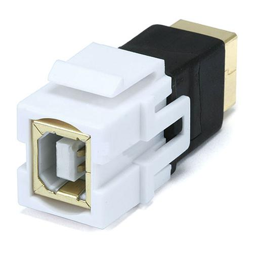 Keystone connector USB 2.0 coupler F/F White Type B - 88-0015 - Mounts For Less