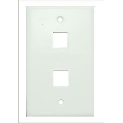 Keystone wallplate white 2 bays - 88-0004 - Mounts For Less