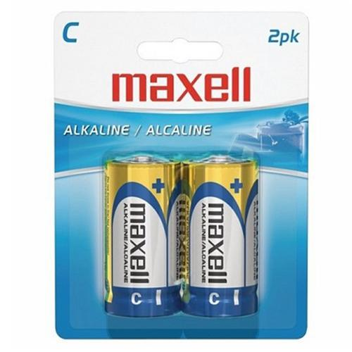 Maxell - C Alkaline Batteries, 2 Pack - 68-0013 - Mounts For Less