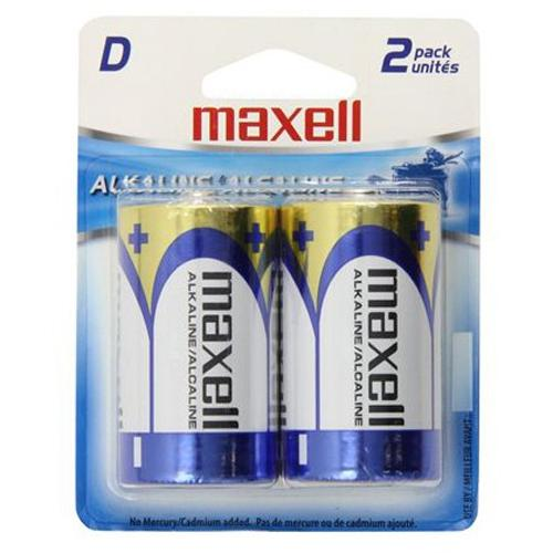 Maxell - D Alkaline Batteries, 2 Pack - 68-0012 - Mounts For Less