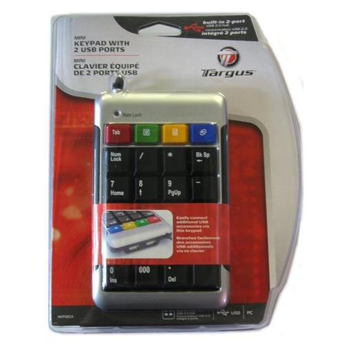 Mini USB numeric keypad with 2 USB ports - 99-0006 - Mounts For Less