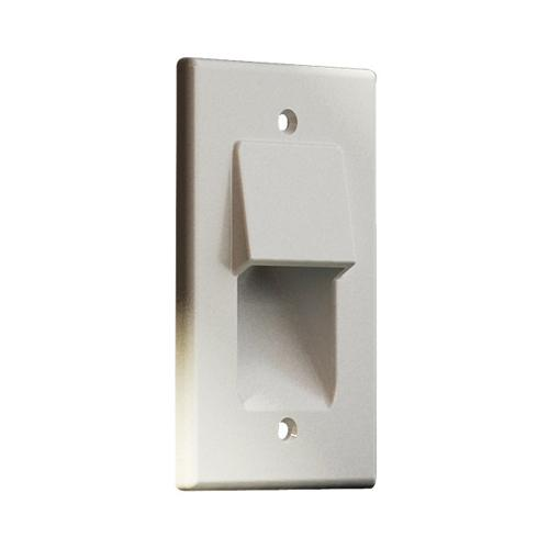 Pass-thru Wallplate for any cables SINGLE white GT - 05-0085 - Mounts For Less