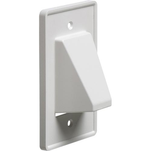 Pass-thru Wallplate for any cables SINGLE White Reversible - 05-0120 - Mounts For Less