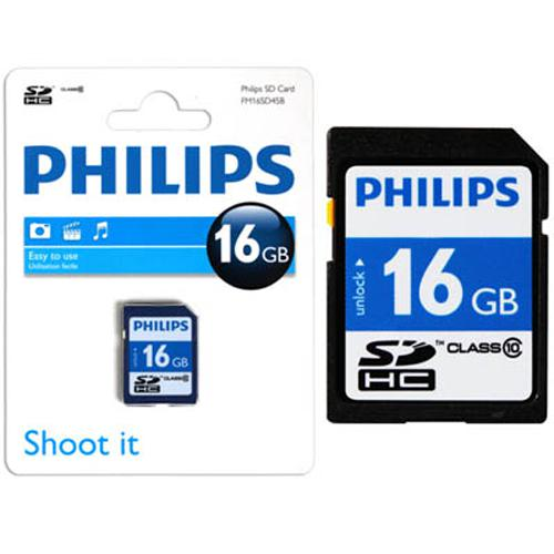 Philips SDHC card (Classe 10) Capacity of 16 GB - 77-0015 - Mounts For Less
