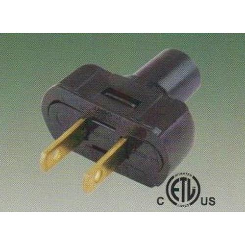 Plug for power cord with 2 prongs 18-16 AWG - 06-0085 - Mounts For Less
