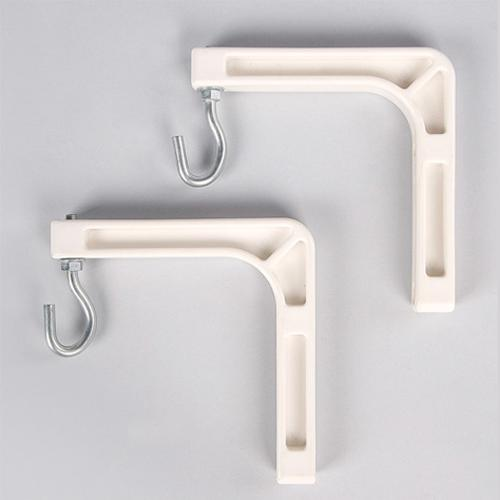 "Projection screen wall mounts (Pair) 6"" White - 13-0265 - Mounts For Less"