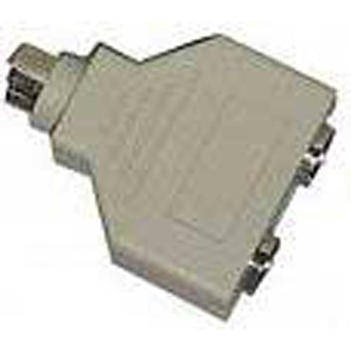Splitter S-Video Male (1) to S-Video Female plugs (2) - 33-0014 - Mounts For Less