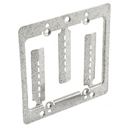 Steel Double Gang Old Work Low Voltage Mounting Bracket - 05-0064 - Mounts For Less