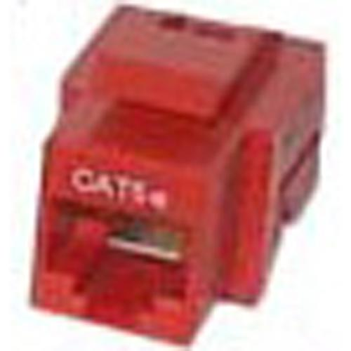 Toolless Keystone connector Cat5e RJ-45 Female Red - 88-0044 - Mounts For Less