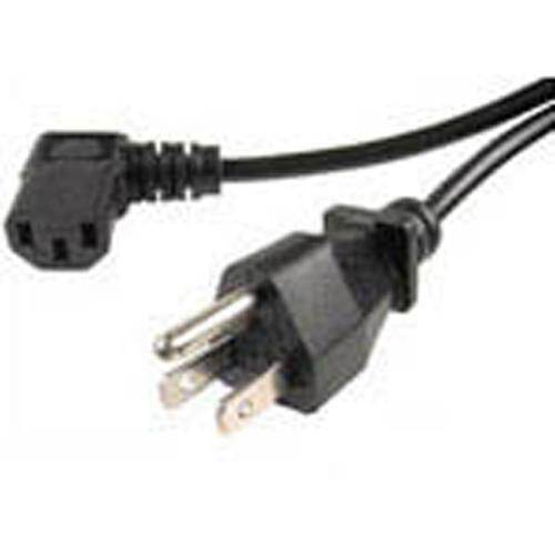 Universal power cord for computers HDTV 10ft black 90deg - 06-0051 - Mounts For Less