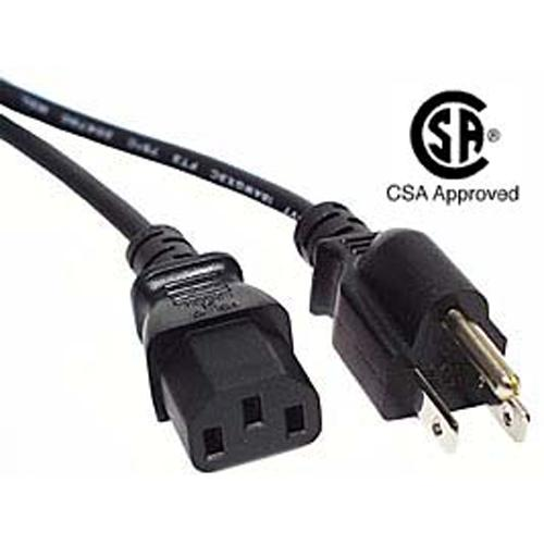 Universal power cord for computers, HDTV and more 1 ft black - 06-0038 - Mounts For Less