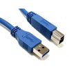 USB 3.0 cable Male A to Male B Blue 15 FT - 15-0023 - Mounts For Less