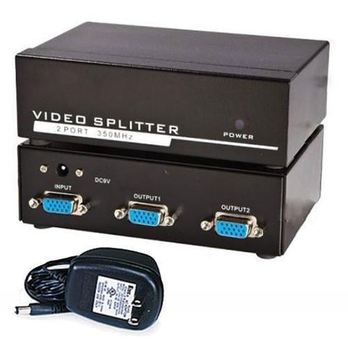 VGA video splitter 1 input and 2 output amplified - 03-0079 - Mounts For Less