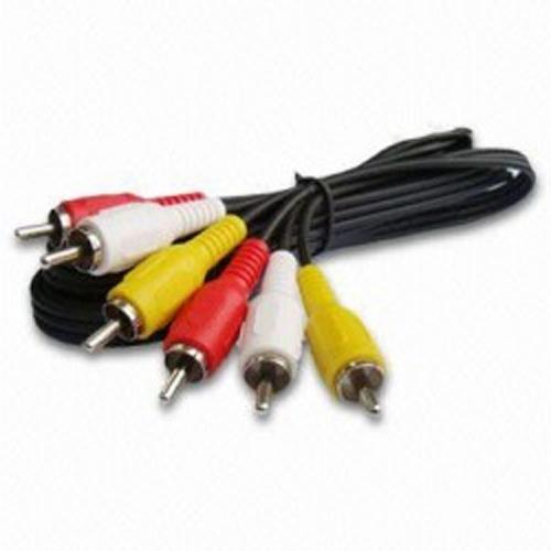 Video Composite + Audio Cable (3 RCA) M/M 12 ft - 34-0033 - Mounts For Less