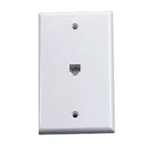 Wall Plate Telephone white with 6P4C connector - 88-0038 - Mounts For Less