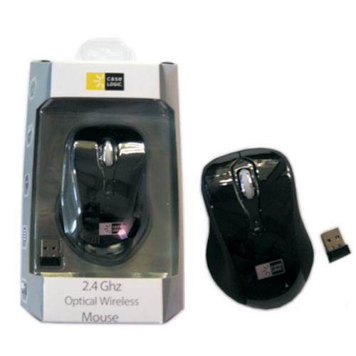 Wireless 2.4Ghz mouse from CaseLogic micro USB receiver Black - 35-0036 - Mounts For Less