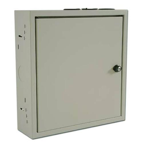 "Wiring Cabinet With Lock 15""x14""x4.25"" Grey - 05-0125 - Mounts For Less"