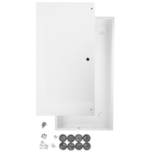 "Wiring Cabinet With Lock 29""x15.4""x3.7"" White - 05-0128 - Mounts For Less"