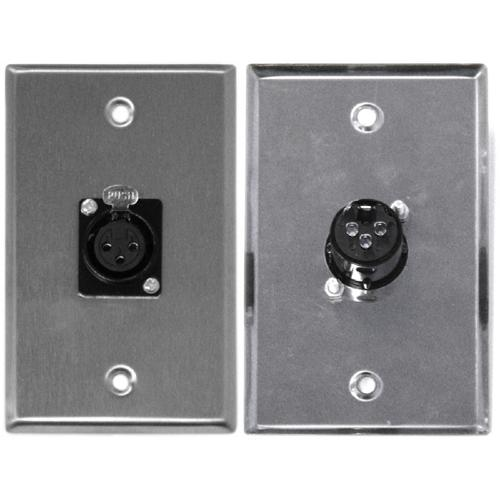 XLR 3 Pin Female Zinc Alloy Wall Plate - 38-0007 - Mounts For Less