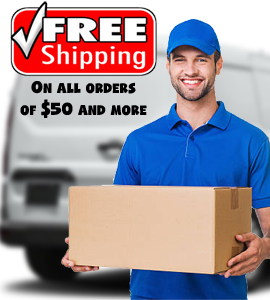 Free Shipping on all orders of 50$ and more!