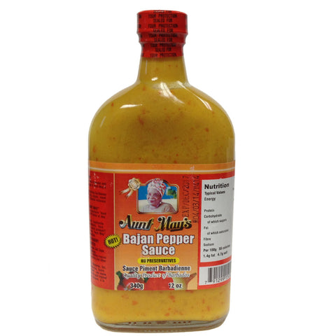 Aunt May's Bajan Pepper Sauce 12oz