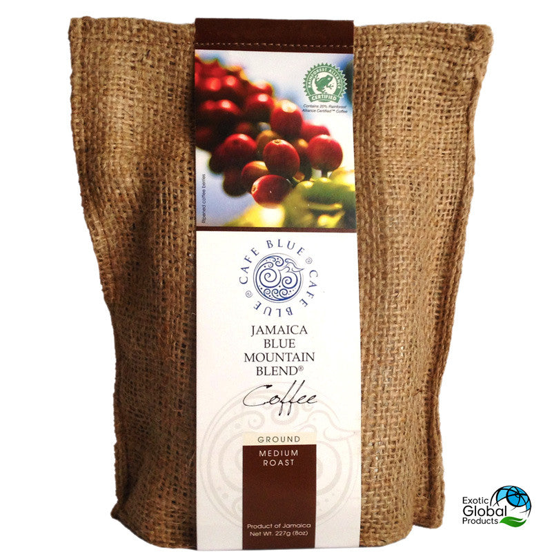 Cafe Blue Jamaica BLUE MOUNTAIN BLEND COFFEE Ground Medium Roast 8oz (227g)