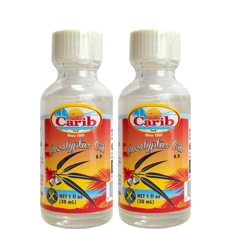 Carib 100% Pure Eucalyptus Oil 1oz (30 mL) 2-Pack