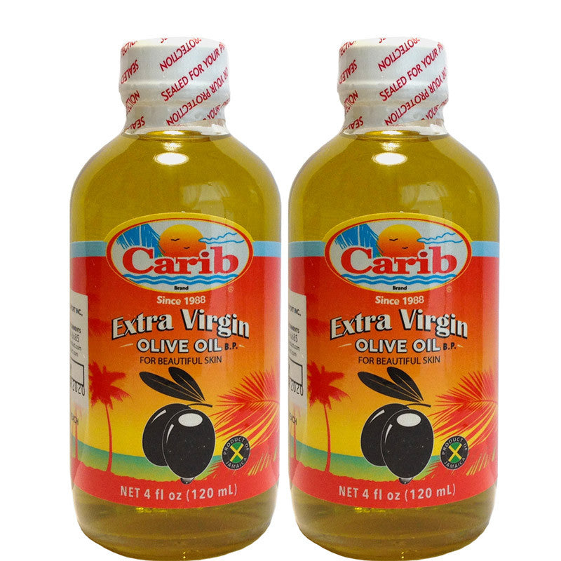 Carib Extra Virgin Olive Oil 4oz (120mL) 2-PACK