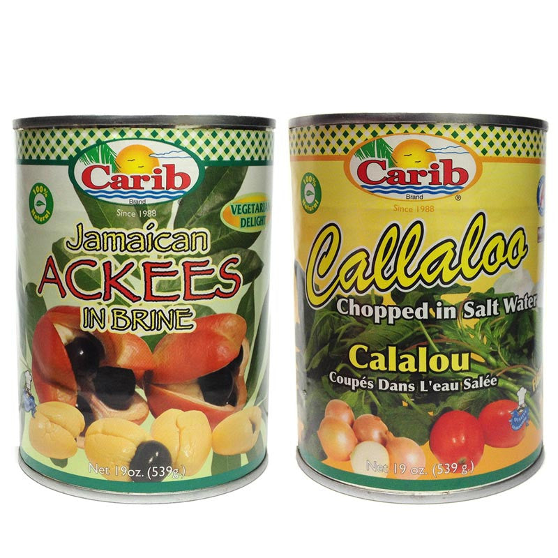 Carib Jamaican Ackees and Callaloo 19oz (2-Pack)
