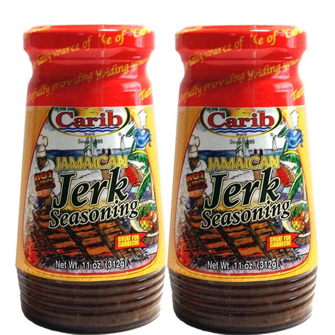 Carib Jamaican HOT Jerk Seasoning 11oz (Pack of 2)
