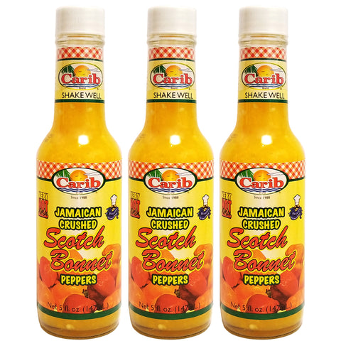 Jamaican Crushed Scotch Bonnet Peppers 5 fl oz (3-Pack)