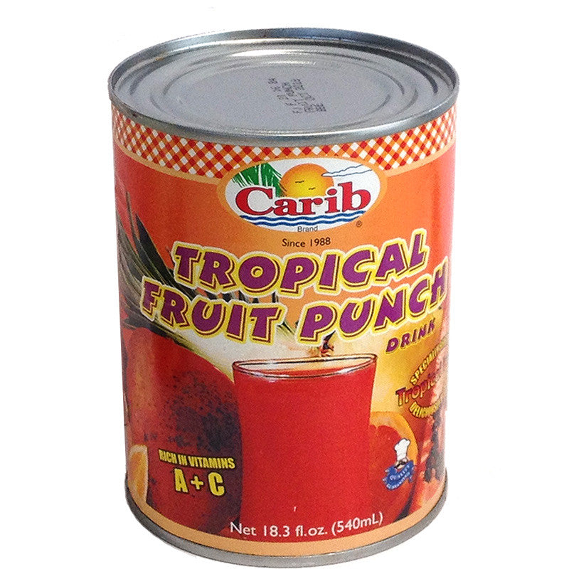 Carib Tropical Fruit Punch Drink 13.8 fl oz