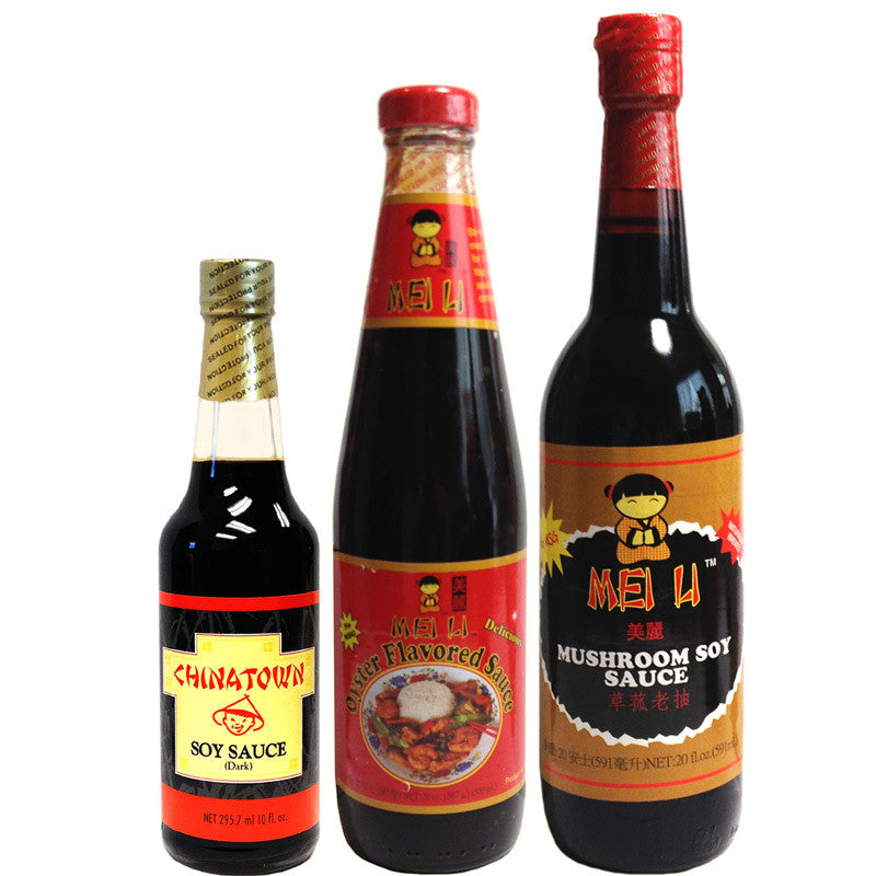 Chinatown Soy Sauce MEI LI Oyster and Mushroom Soy Sauce 3-Pack