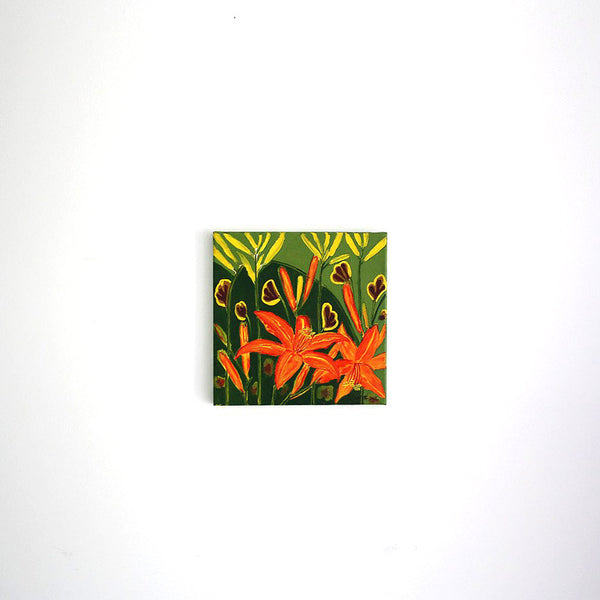 day lillies 10 x 10 acrylic on stretched canvas