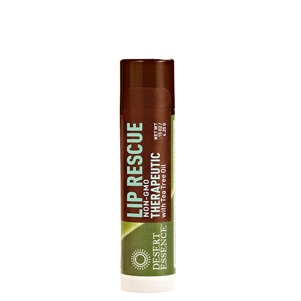 Desert Essence Lip Rescue Therapeutic With Tea Tree Oil 0 15oz