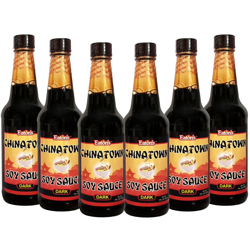 Eaton's Chinatown Soy Sauce (Dark) 10oz (Pack of 6)